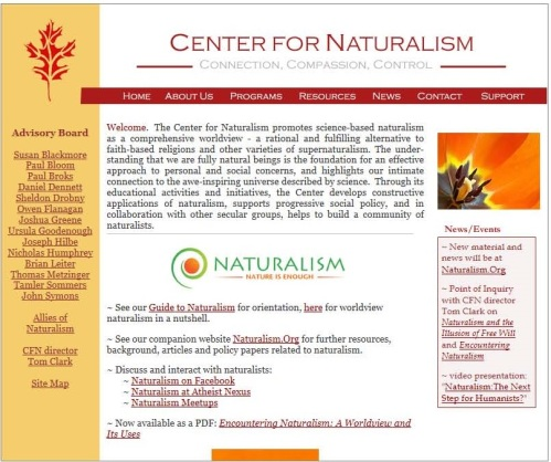 Center for Naturalism home page